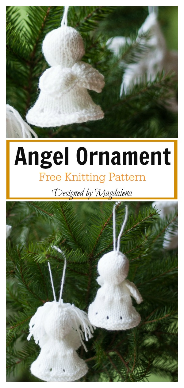 Christmas Angel Ornament Free Knitting Pattern