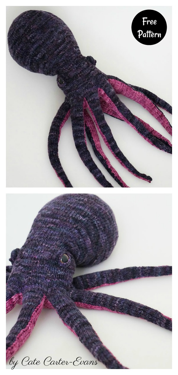 Octopus Knitting Pattern : octopus, knitting, pattern, Medium, Octopus, Knitting, Pattern