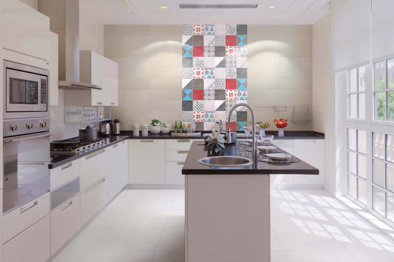Cucine Con Piastrelle | Piastrelle Cucina Moderne Cool Pittura Per ...