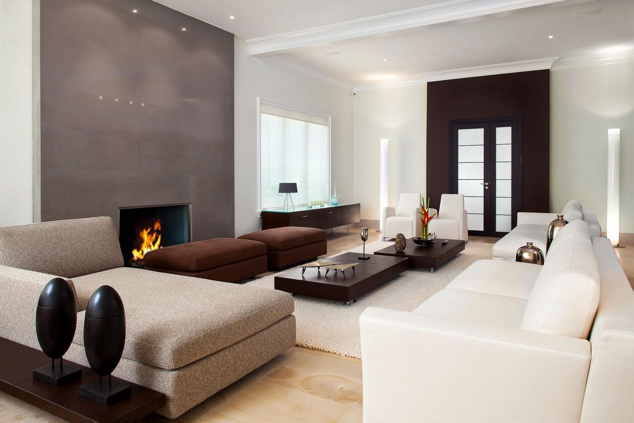Soggiorno Con Divano Grigio Scuro soggiorno moderno con pavimento in cotto - pavimento parquet