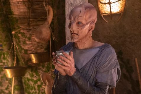 """The Sound of Thunder"" -- Episode #206 -- Pictured: Doug Jones as Saru of the CBS All Access series STAR TREK: DISCOVERY. Photo Cr: Michael Gibson/CBS ©2018 CBS Interactive, Inc. All Rights Reserved."