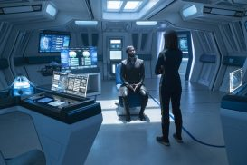 """Project Daedalus"" -- Ep#209 -- Pictured (l-r): Ethan Peck as Spock of the CBS All Access series STAR TREK: DISCOVERY. Photo Cr: Michael Gibson/CBS ©2018 CBS Interactive, Inc. All Rights Reserved."