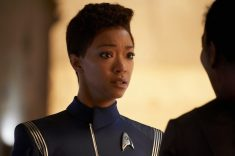 """Perpetual Infinity"" -- Ep#211 -- Pictured: Sonequa Martin-Green as Burnham of the CBS All Access series STAR TREK: DISCOVERY. Photo Cr: Steve Wilkie/CBS ©2018 CBS Interactive, Inc. All Rights Reserved."