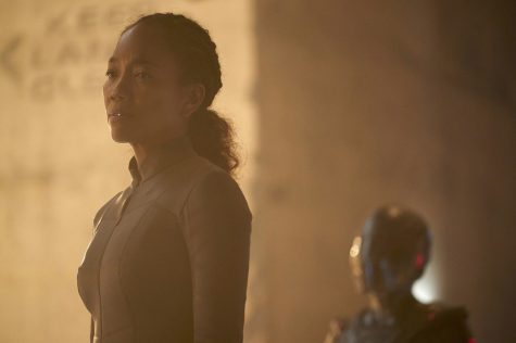 """Perpetual Infinity"" -- Ep#211 -- Pictured: Sonja Sohn as Burnham's mom of the CBS All Access series STAR TREK: DISCOVERY. Photo Cr: Steve Wilkie/CBS ©2018 CBS Interactive, Inc. All Rights Reserved."