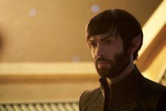 """Perpetual Infinity"" -- Ep#211 -- Pictured: Ethan Peck as Spock of the CBS All Access series STAR TREK: DISCOVERY. Photo Cr: Steve Wilkie/CBS ©2018 CBS Interactive, Inc. All Rights Reserved."