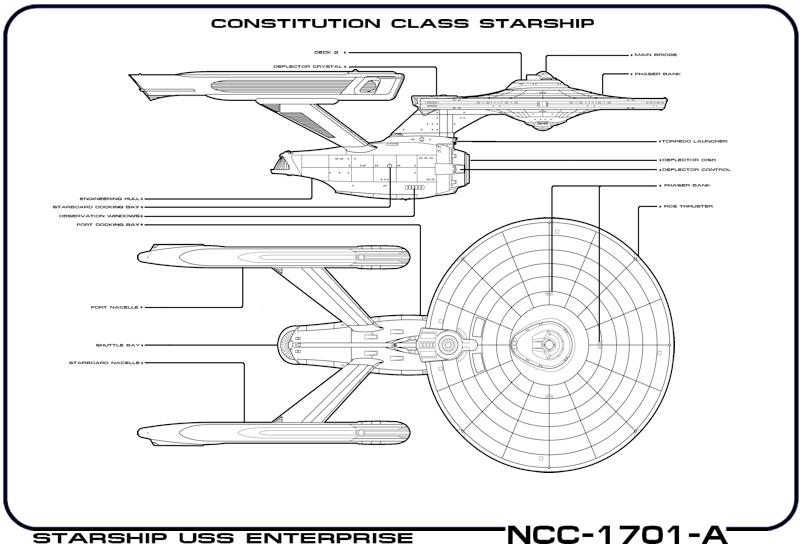 My Star Trek Art #5 Scotty's Enterprise Schematic