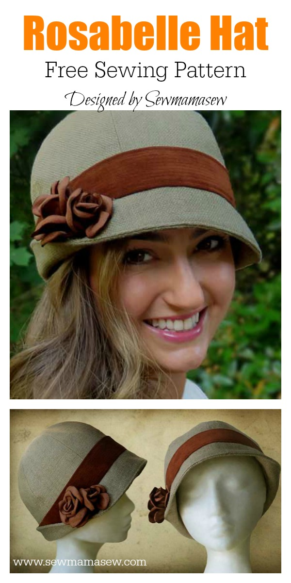 How To Make A Cloche Hat : cloche, Rosabelle, Sewing, Pattern