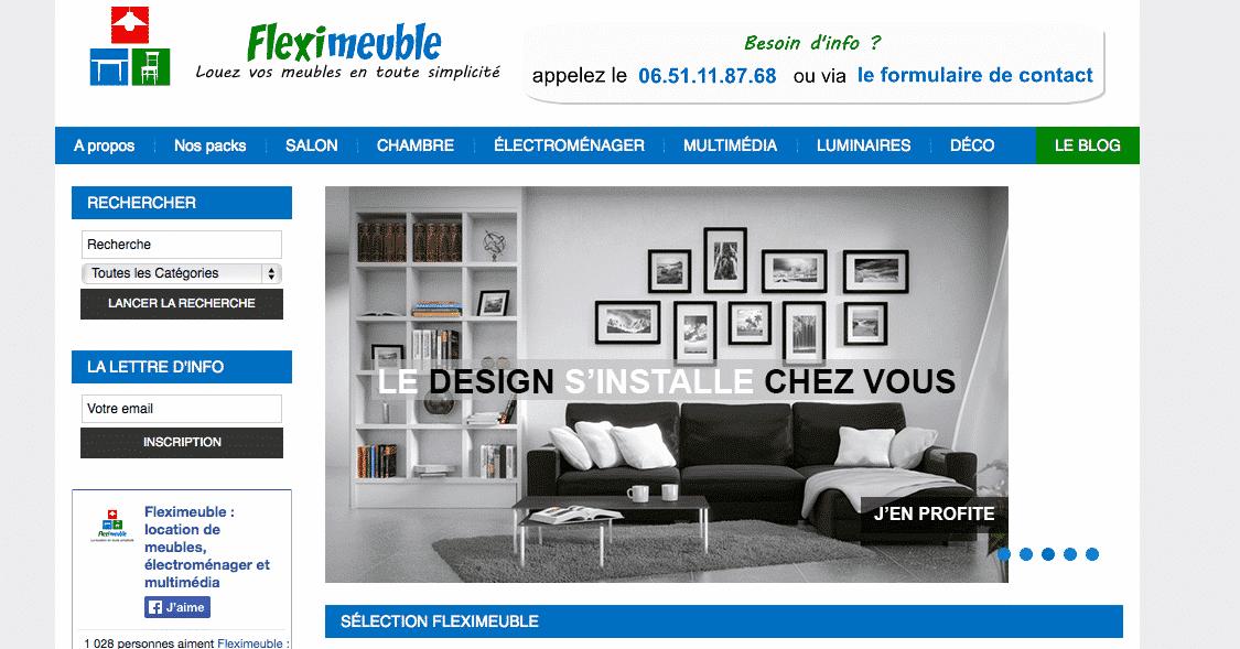 startup fleximeuble louer ses meubles au lieu de les acheter. Black Bedroom Furniture Sets. Home Design Ideas