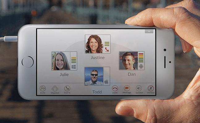 Startup Voxeet mobile app