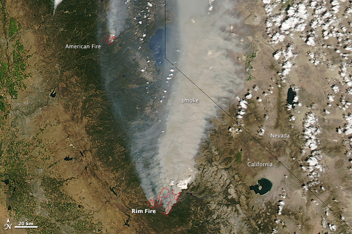 Wildfire in California Credit http://earthobservatory.nasa.gov/