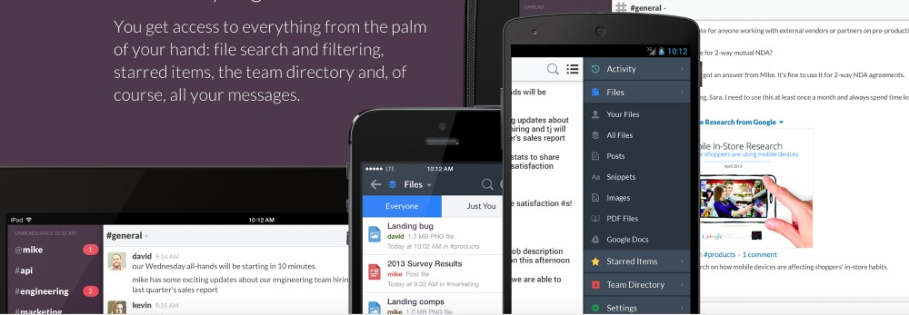 Slack Apps on different devices