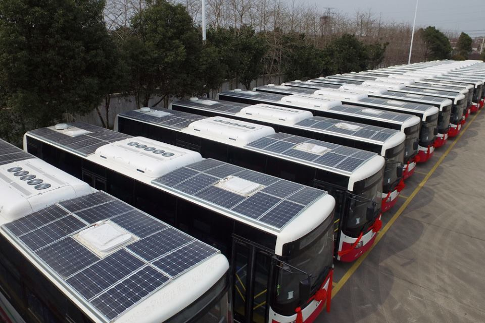 Solar powered buses for Harare