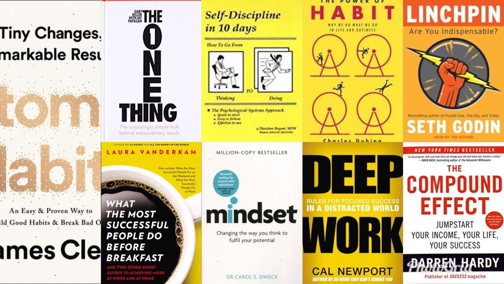 10 books to improve your productivity