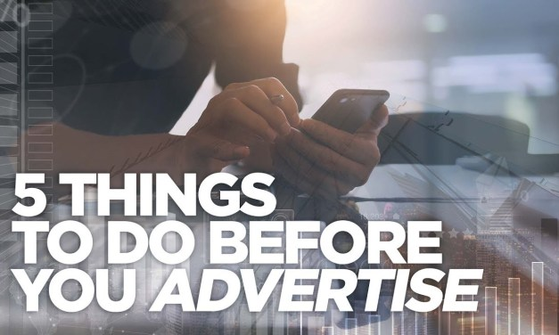Before you advertise…
