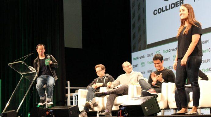 Collider pitching in the TechCrunch Disrupt Startup Battlefield