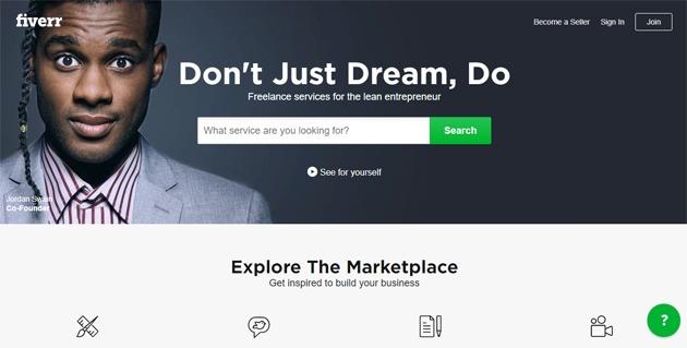 Fiverr freelance website marketplace