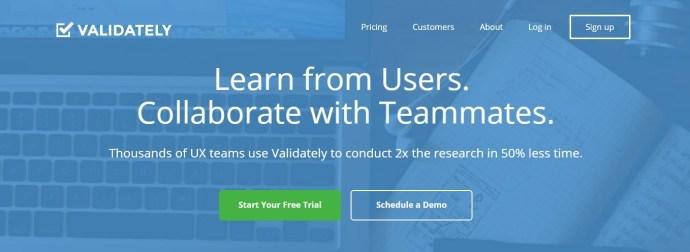 Validately - desktop beta testing service. Desktop and mobile app beta testing sites