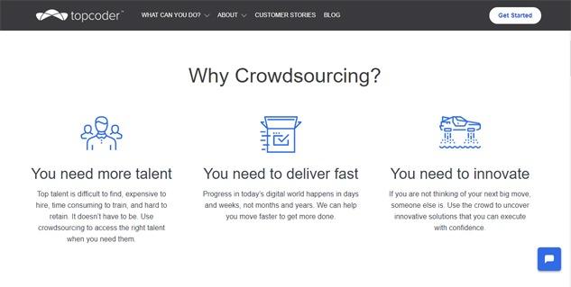topcoder development freelancer website