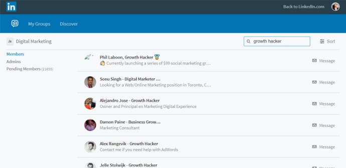 LinkedIn Group Search by Keyword - How to Find a Co-Founder