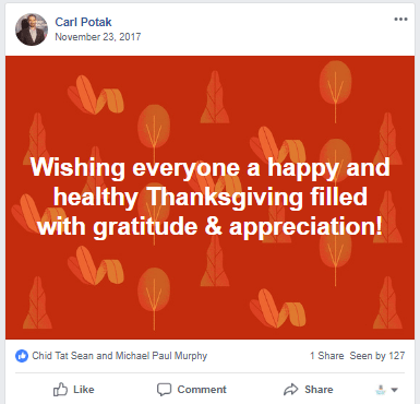 Holidays Post on facebook