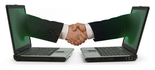 Handshake across a computer