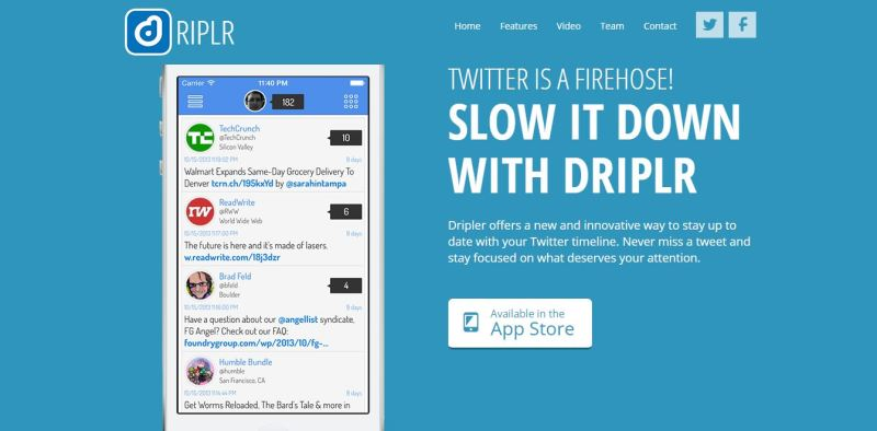 Make Your Twitter Less Messy With Driplr!