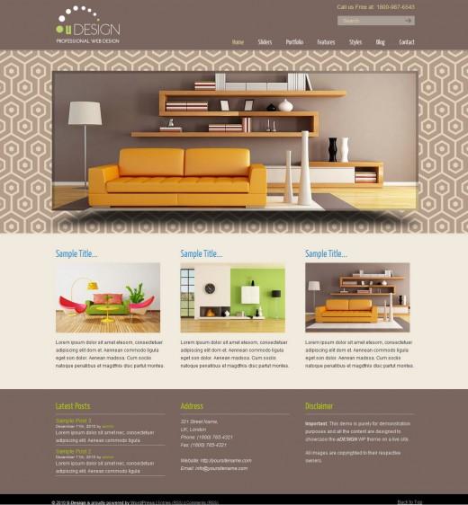 U-Design business wordpress theme