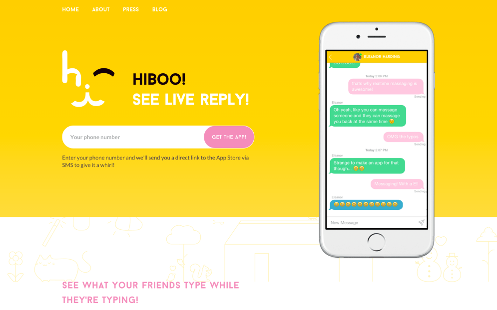 Hiboo-Screenshot-Landing-Page