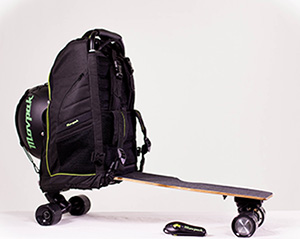 Movpak- A Skateboard Backpack that would carry both your luggage and you