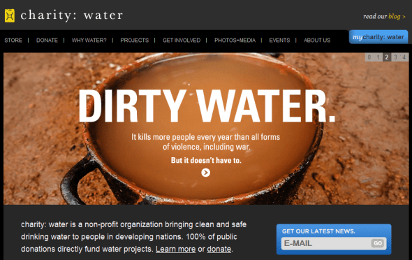 Charity: Water Featured on StartUpLift