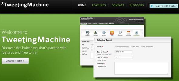 TweetingMachine - Featured on StartUpLift