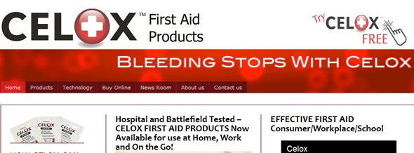 Celox - Stops Bleeding - Startup Featured on Startuplift