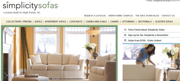 Simplicity_Sofas - Startup Featured on StartUpLift