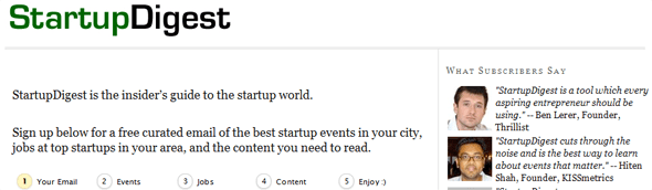 StartupDigest - Startup Featured on StartUpLift