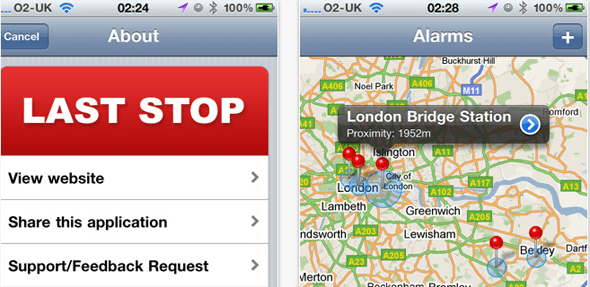 GPS Alarm - Last Stop for iPhone  - Featured on StartUpLift