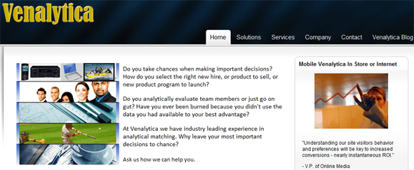 Venalytica - Experts in Analytical Matching - featured on StartUpLift