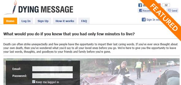 DyingMessage - startup Featured on StartUpLift