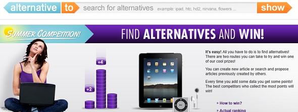 alternative.to-startup featured on StartUpLift