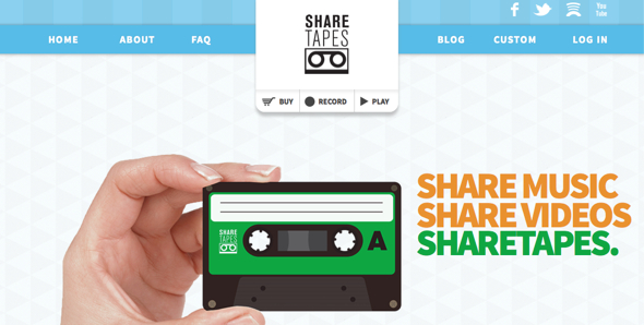 sharetapes - startup featured on startuplift for website feedback & startup feedback