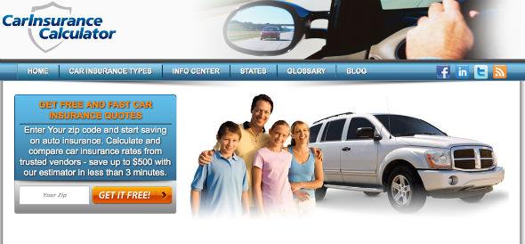 CarInsuranceCalculator - startup featured on startuplift for website feedback & startup feedback