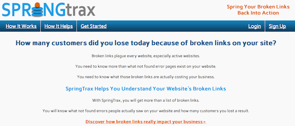 springTrax - startup featured on startuplift for website feedback & startup feedback