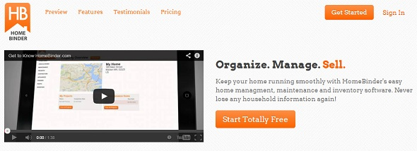 HomeBinder - startup featured on StartUpLift for startup and website feedback