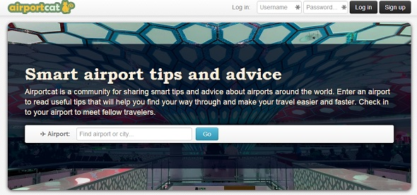 AirportCat - startup featured on StartUpLift for startup feedback and website feedback