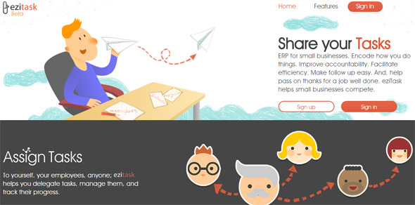 ezitask - startup featured on StartUpLift for startup feedback and website feedback