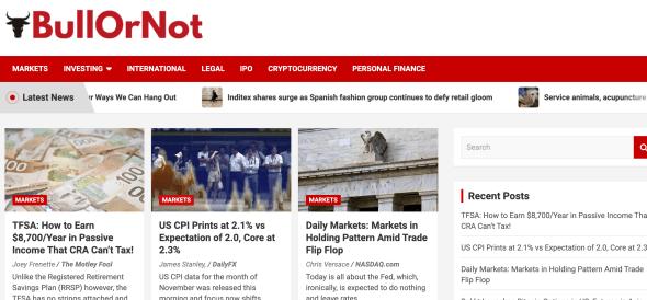 BullOrNot - Financial News Aggregator