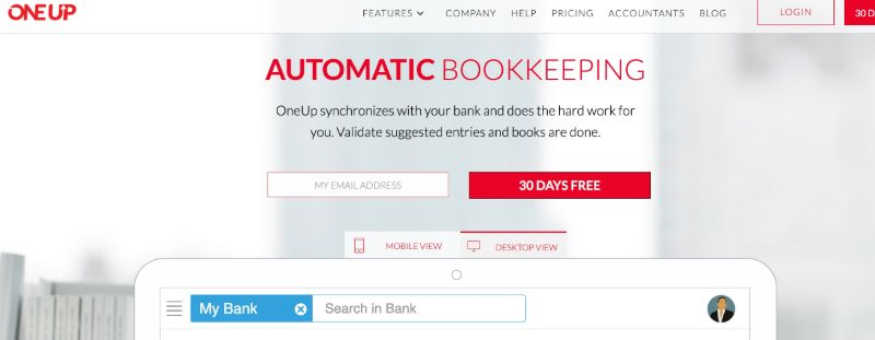 OneUp - The Best Accounting Software for Startups (& Small Businesses)