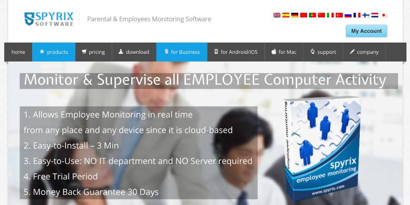 Spyrix -  Best Remote Employee Monitoring Software