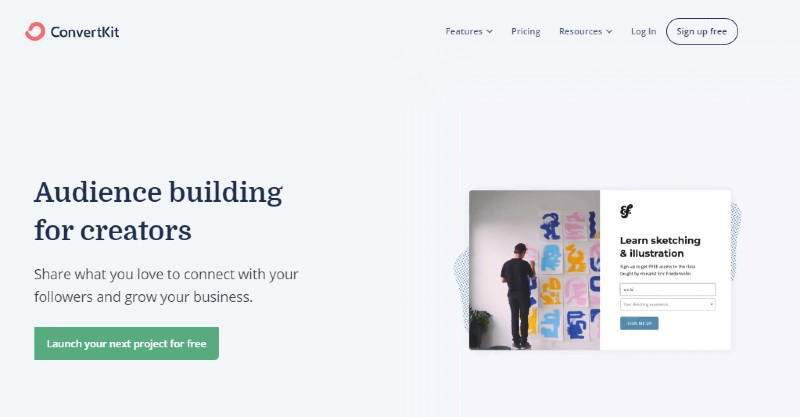 ConvertKit - Best Email Marketing Services