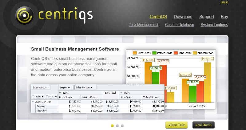 CentriQS - Best Database Software
