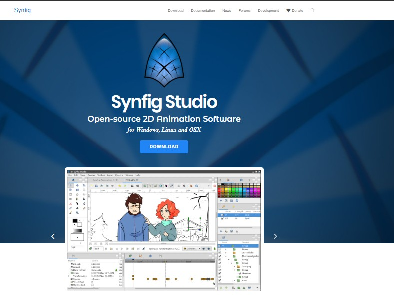 Synfig Studio - Best Animation Software for Beginners